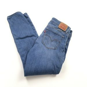Levi's 711 Skinny Jeans Medium Wash Low Rise Ankle